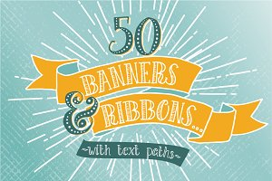 Hand Drawn Banners & Ribbons Bundle