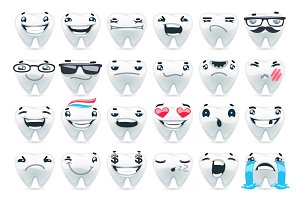 Cartoon Teeth Emoticons