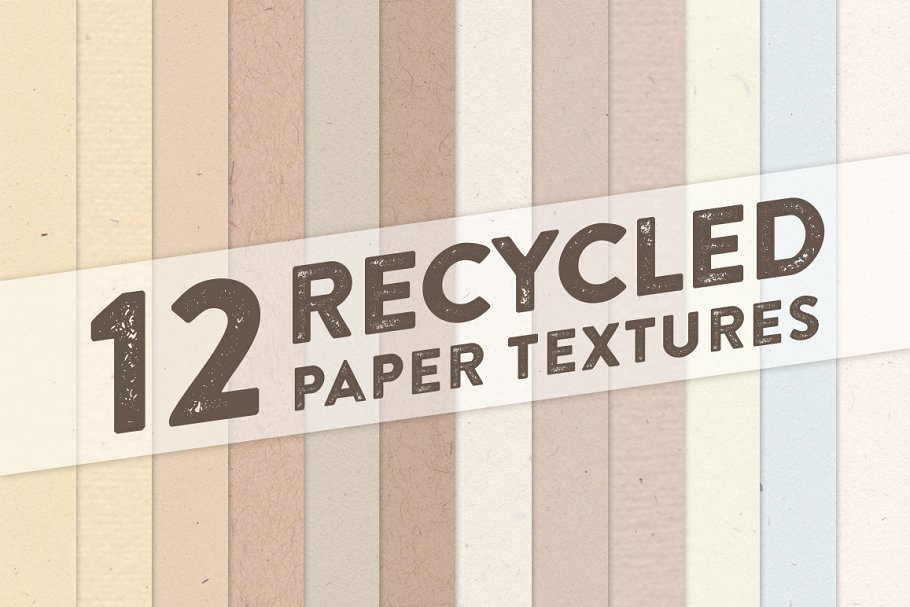 12 Recycled Paper Textures ~ Textures ~ Creative Market