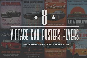 Retro Car Flyer/Poster Bundle