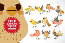 Cute Autumn Birds Collection