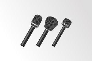 3 x Microphone