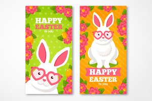 Easter Banners with Rabbit