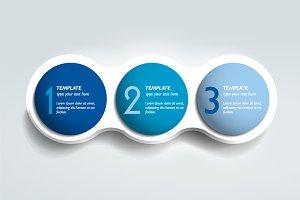 3 steps infographics.