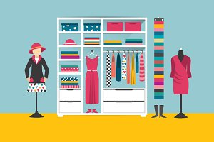 Clothing store. Flat illustration.