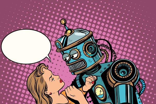 Robot woman love computer technolog…