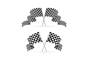 Racing Flag Avto Set. Vector