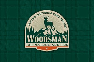 Woodsman Hunting Apparel Logo