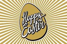 "Hand lettering ""Happy Easter vintage"