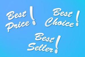 Best Seller, Best Price, Best Choice