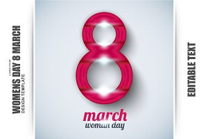 Womens Day Template for 8 March
