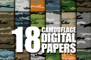 18Camouflage Military Digital Paper