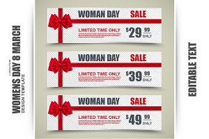 Womens Day Banners, Tag, Gift Card