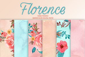 "Watercolor ""Florance"" digital papers"