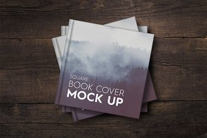 SALE - Square Book Cover Mockup