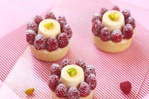 Frangipane Tarts with Raspberries