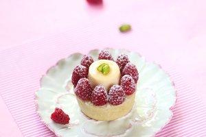 Frangipane Tart with Raspberries