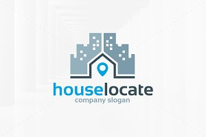 House Locate Logo Template