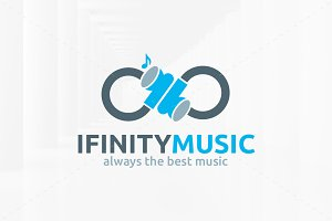 Infinity Music Logo Template