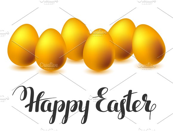 Happy Easter greeting cards Card Templates on Creative Market – Easter Greeting Cards