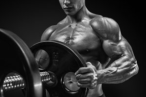 Prepare to do exercises with barbell