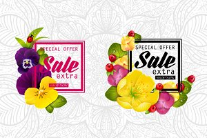 Colorful naturalistic sale frames