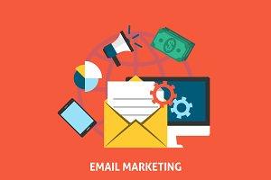 Email Makreting Concept