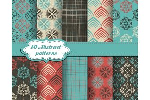 Cute 10 abstract patterns
