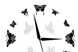 Butterfly, clock