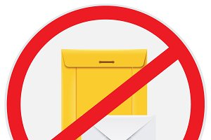 no envelopes, mails, ATM, vector