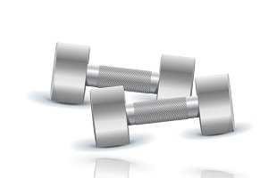 Dumbbells, vector, illustration