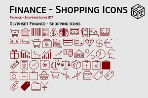 Finance - Shopping Icons + Web Font