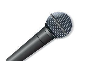 Microphone, vector, illustration