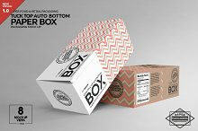 Long Top Tuck Auto Bottom Box Mockup by  in Mockups