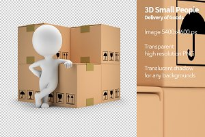 3D Small People - Delivery of Goods