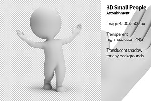 3D Small People - Astonishment