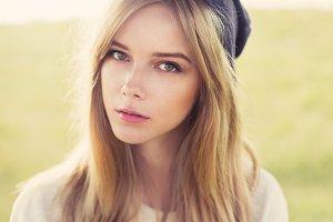cute girl in a cap