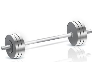 dumbbells, fitness, vector