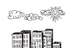 sketch, city