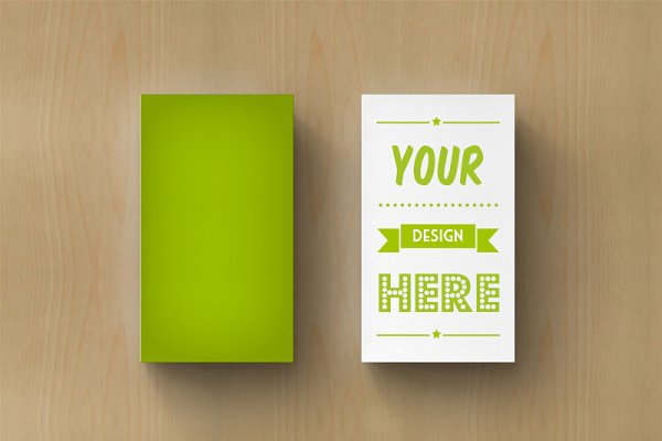 Business card in situation mockups