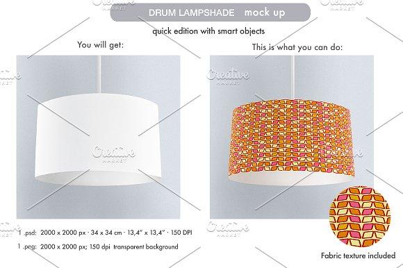 Download Drum Lampshade Mock Up