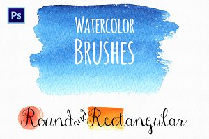 Watercolor Round&Rectangular Brushes