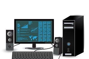 desktop, monitor, computer