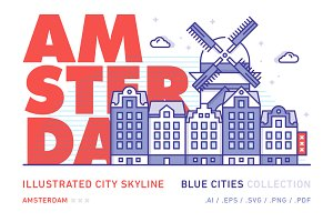 Amsterdam x Illustrated City Skyline