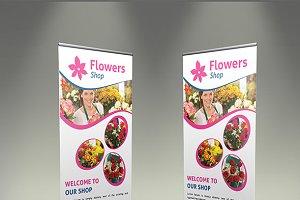 Flower Shop Roll-Up Banner - SK