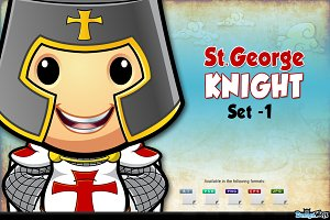 St. George Knight Character - Set 1