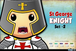 St. George Knight Character - Set 2