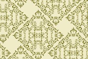 Vector Vintage Seamless  Floral Patt