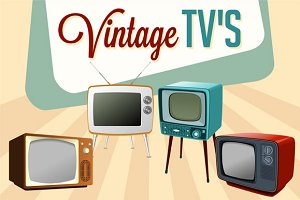 Vector Vintage TVs