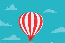 air, balloon, vector, illustration